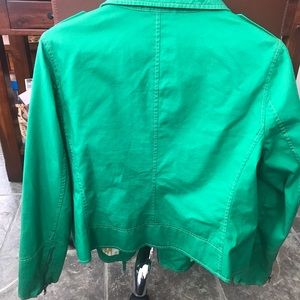 Boden Jackets & Coats - Boden green motorcycle jacket
